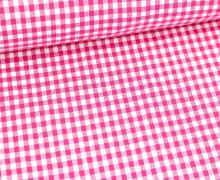 Vichy Stoff - Mittlere Karos - 4mm x 5mm - Pink