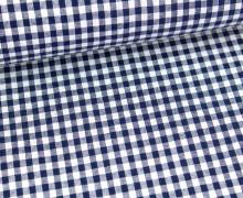 Vichy Stoff - Mittlere Karos - 4mm x 5mm - Nachtblau