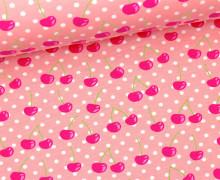 Jersey - GOTS - Cherry Dots - Rosa