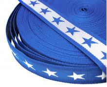 1 Meter Gurtband - Sterne - 40mm - Blau