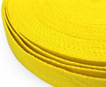 1m weiches Gurtband - 30mm - Gelb