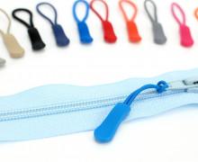 1 Zipper Schlaufe Reißverschluss Anhänger - Brillantblau