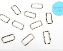 10 Vierkant-Ringe - 25mm - Taschenringe - Silber