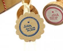 Stempel - Schön, dass Du mit uns feierst - Holzstempel