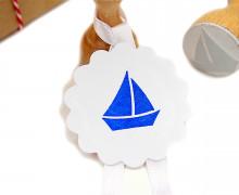 Stempel - Klein - Segelboot - Holzstempel
