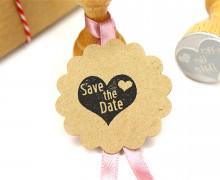 Stempel - Klein - Save the Date - Herz - Holzstempel