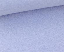 Glattes Bündchen - Schlauch - Babyblau Meliert