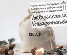 Onkel Bo's Bügelbilder - DIN A5 - 2 Namen - lang