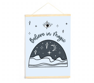 DIY-Stoffposter - Lettering - Believe in Magic