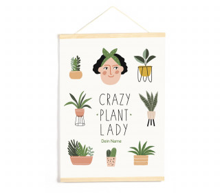 DIY-Stoffposter - Crazy Plant Lady