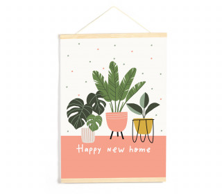DIY-Stoffposter - Happy New Home