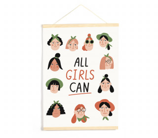 DIY-Stoffposter - All Girls Can