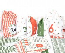 DIY Adventskalender - Säckchen - Zum Selber Nähen - Red & Green Christmas - Weihnachten - 2021 - abby and me