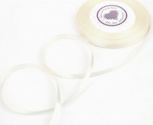1 Rolle Satinband - Schleifenband - Zierband - Weihnachten - 6mm - Uni - Warmweiß