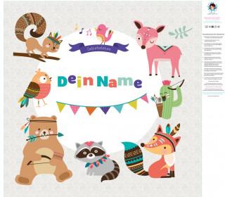 DIY-Nähset Babydecke - Top Babydecke - personalisiertes Krabbeldecken Top - Wild Animals - zum selber Nähen