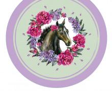 DIY-Nähset Babydecke - Rund - Dream Horses - 02 - Top Babydecke - pers. Krabbeldecken Top - zum selber Nähen