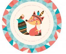 DIY-Nähset Babydecke - Rund - BohoTiere - Fuchs - Top Babydecke - pers. Krabbeldecken Top - zum selber Nähen