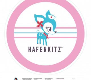 DIY-Nähset Babydecke - Rund - HafenKitz - rosa - pers. Deckentop - NIKIKO - zum selber Nähen