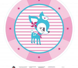 DIY-Nähset Babydecke - Rund - HafenKitz Stripes - Double - rosa - pers. Deckentop - NIKIKO - zum selber Nähen