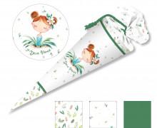 DIY-Nähset Schultüte – Blumenmädchen Margerite – zum selber Nähen