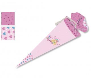 DIY-Nähset Schultüte - Meerjungfrau - Wildblume - rosa - zum selber Nähen