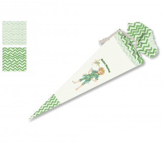 DIY-Nähset Schultüte - Auf ins Abenteuer - grün - Wildblume - zum selber Nähen