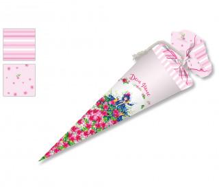 DIY-Nähset Schultüte - Papageien Mädchen - Rosa - Wildblume - zum selber Nähen