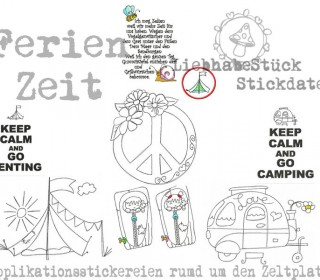 Stickdatei -  3in1 Datei Camping