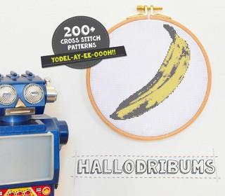 Stickdatei - Banana - Kreuzstichmuster - Handstick Datei