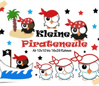 Stickdatei - Stickserie Pirateneule 10x10 bis 16x26