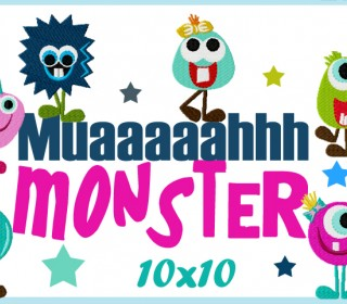 Stickdatei - Monster Muuuaaaah10x10