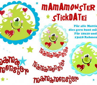 Stickdatei - Mamamonster