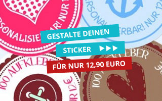 Banner Gestalte Deinen Sticker
